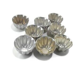Vintage Aluminum Gelatine Molds * Set of 8 * Jello Molds
