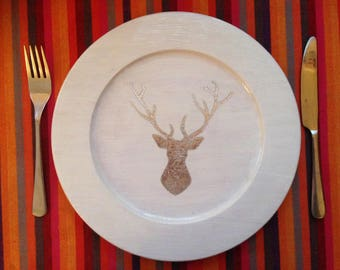 Silver Stag platter
