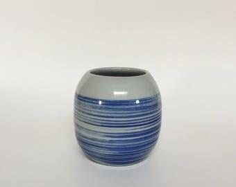 Blue whisker vase