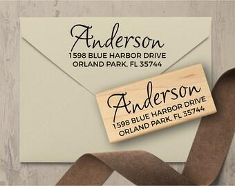 Surname Address Stamp, Custom Address Stamp, Wedding Address Stamp, Return Address Stamp, Wedding Gift  140