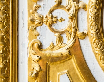 Versailles Gold Art Print - French Inspired Home Decor - Chateau de Versailles Photography Print - Francophile Gift