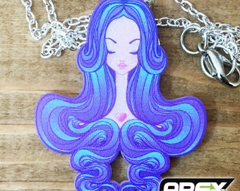 Purple Dreams - Stunning Acrylic Necklace by Ashley @ Pixiebitz!