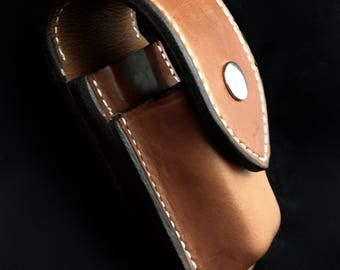 Custom Leather Sheath for Wave,Charge,Surge with extra pocket for 2 bit cards, bit extender