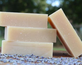 LEARA LAVENDER Milk Soap - Cold Process Essential Oil Soap - Real Lavender & Local Raw Milk