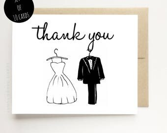 Thank You From the Bride and Groom - Wedding Shower Thank You Cards - Thank You Cards for Wedding - Thank You from Future Bride and Groom