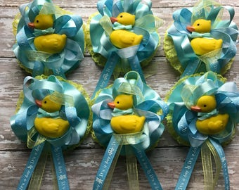 "12 Adorable Baby Shower Corsage Capia ""Duckies Theme"