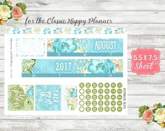 Botanical Bliss - All Months Available - Monthly Sticker Kit - Month View - Happy Planner Monthly Kit / Day Date Cover Planner Stickers