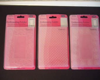 Embossing Folders - Lot of 3 Sets - Crafts-Too Embossing Folders