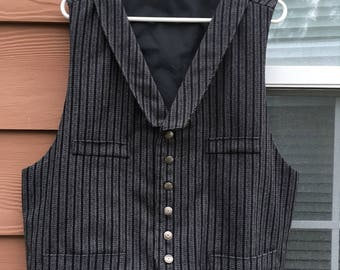 Mens old fashioned western vest