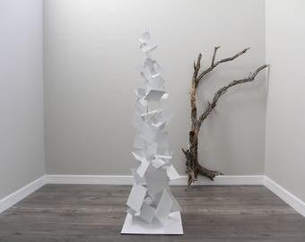Metal Brutalist Abstract Art Sculpture Modern Retro Standing Decor Contemporary Mid Century Modernist Minimalist by Petrykowski Artworks