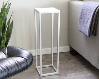 Modern Metal Contemporary Accent Pedestal Sokol Table Decor Mid Century by Petrykowski