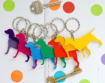 Dog key ring - rescue dog key ring - key chain for dog lover - dog owner's key ring - dog shaped keyring -  gift for a dog owner - dog gift