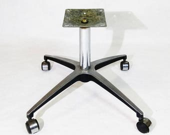 Vintage Mid Century Modern Alloy Chair Leg Base on Casters