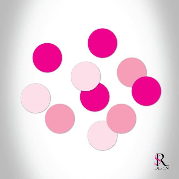 Circle Confetti, Pink Set