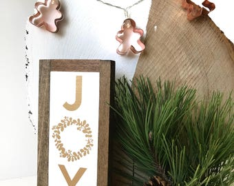 Joy Wood Sign | Christmas Decor | Mantel Decor