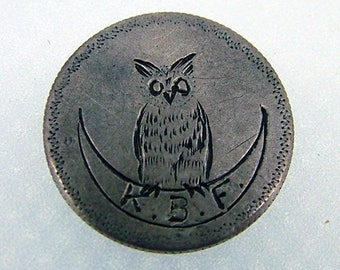 Owl on the Moon Love Token - Seated Liberty Dime Ca 1883