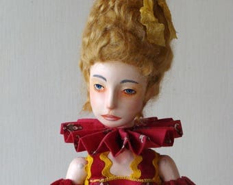 """August discount 20 % Off Art doll,  OOAK, jointed doll  """"Harriet"""""""