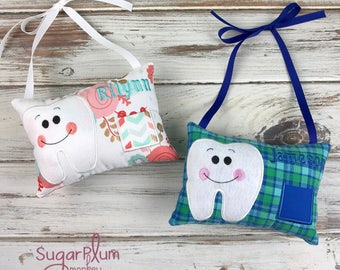 Stuffed Tooth Fairy Pillow, Personalized