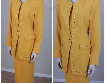 Vintage 90s suit 2 pieces lined size 8 by Chad Stevens