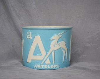 Vintage Haeger Pottery Planter - Vintage Haeger Planter - ABC Decor - Vintage Baby Nursery Decor - Vintage Baby Shower Gift -Vintage Planter