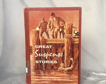 Great Suspense Stories - Vintage Mystery Book Decor - Vintage Suspense Book - Suspense Gifts - Suspense Short Stories  - Suspense Anthology
