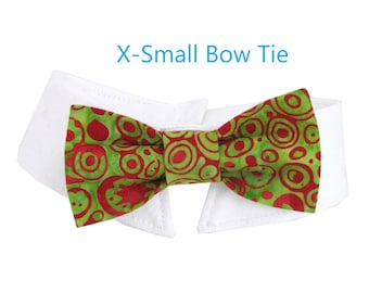 Abstract Holiday Ornament Bow Tie, Necktie, or Bow on a Shirt Style Collar for both Dogs & Cats
