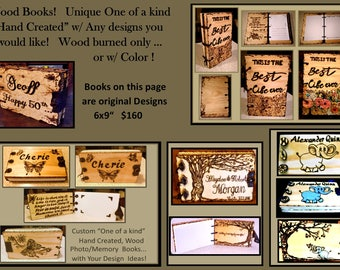 Five year Anniversary,wood anniversary gifts,wood journal ,Romantic gifts, Wood books, Photo Album,mens gift, Memory, Book,Guest Book