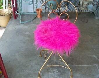 Vanity Chair / Boudoir Chair - Gold Tone Metal Swivel Chair