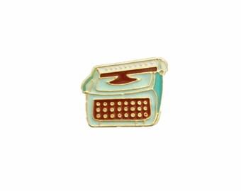 Vintage Typewriter Pin/ Typewriter Brooch Pin/ Enamel Pin