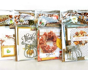 Junk Journal Kit / Fall / Planner Kit / Junk Journal / Art Journaling / Scrap Pack / Collage Kit / Embellishment Kit / Scrapbook Kit