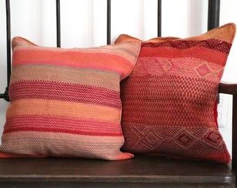 Set of 2 Decorative Cushions - Wool Loom