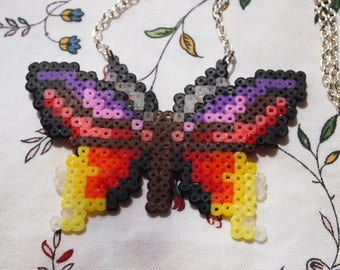 Handmade Butterfly Bead Necklace