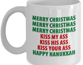 Christmas Vacation Merry Christmas Kiss My Ass Funny Mug Gift Movie Clark Griswold Coffee Cup