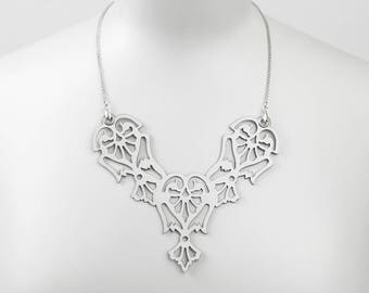 "Lase Cut Leather necklace ""Angels"""
