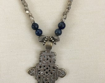 Vintage Ethiopian Amulet with African Beads