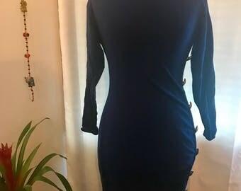 Andrea Jovine Body Con Wool Dress