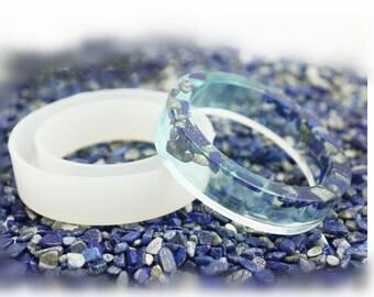 Silicone Mold for Epoxy Resin Jewelry Gemstone Making -Flat Bracelet Silicon Mould DIY Craft - Bangle Shape - Bangle Silicone Mold