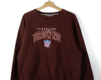 Damaged Vintage Cleveland Browns Sweatshirt from 90's/Champion/Brown