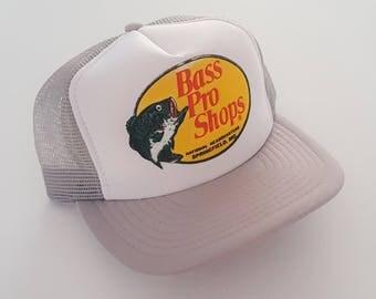Vintage Bass Pro Shops Trucker Style Snapback Hat VTG