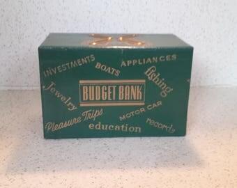 Vintage Leather Budget Box Bank