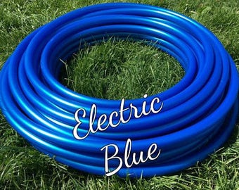 "Electric Blue Roll of 3/4"" or 5/8"" Colored PolyPro hula hoop tubing - Make your own hoops!  50 ft or 100 ft"