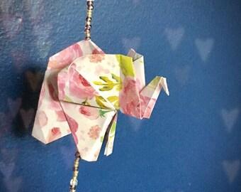 8.5 in Beaded Origami  Elephant