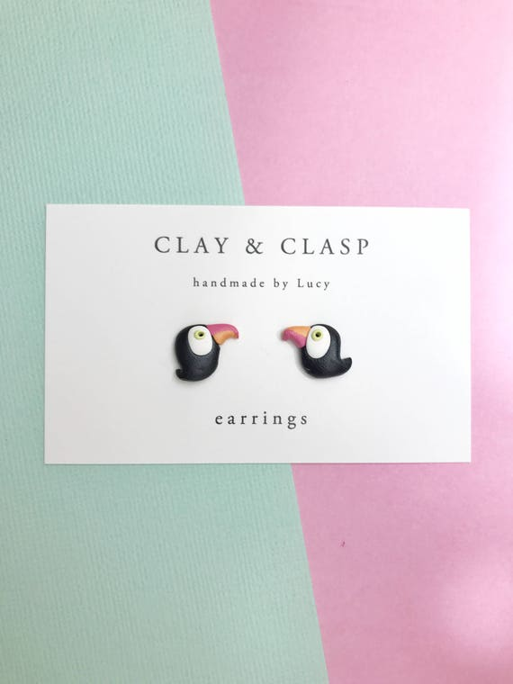 Toucan Stud Earrings