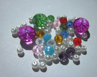 53 4 to 12 mm (D9) multicolored glass beads