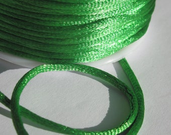 1 meter wire knotting Green 2 mm thick (10)-