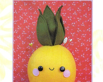 """Pattern """"Pin-apple"""" Pincushion/ Softie/Toy Pattern by Two Brown Birds (TB724) Sewing Card Instructions"""