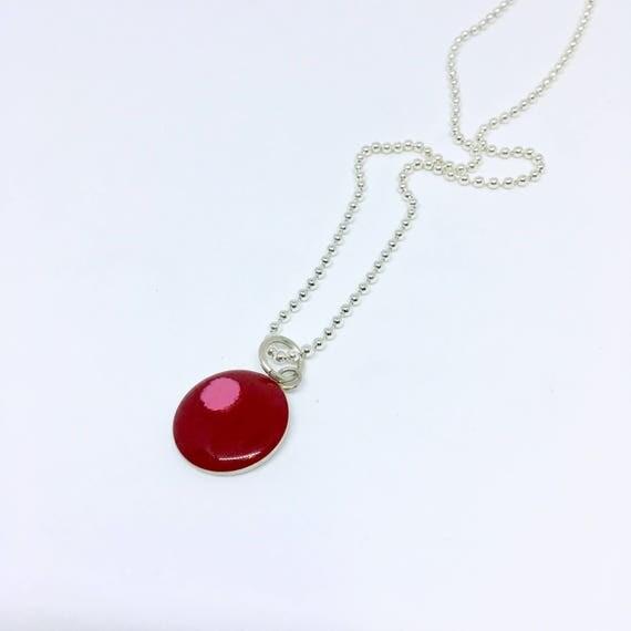 Sterling silver resin pendant