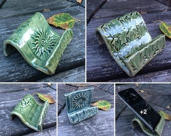 Cell Phone Holder Business Card Holder Pottery Custom Also