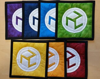 "11"" Set of 7 Antahkarana in chakra colors {NEW}"