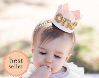 First Birthday Party Hat || First Birthday Outfit Girl || 2nd Birthday Crown || Second Birthday Crown || Birthday Crown
